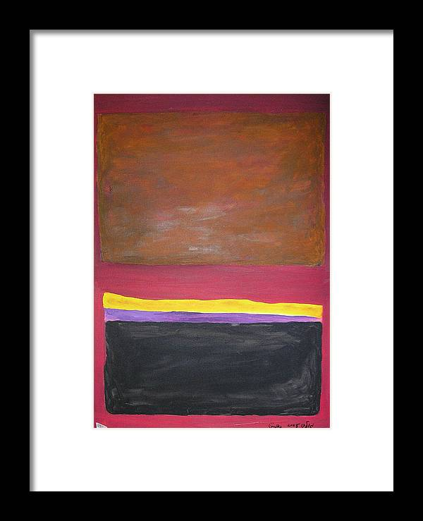 Shapes Framed Print featuring the painting Imagined Images by Harris Gulko