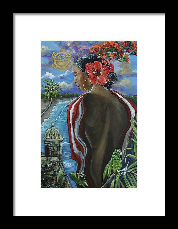 Puerto Rico Framed Print featuring the painting Imagines Boricuas by Melissa Torres