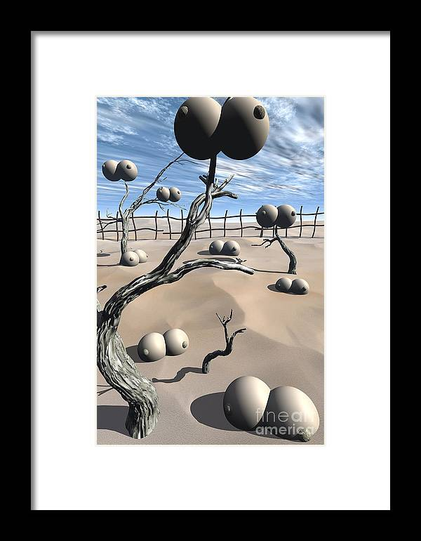 Humor Framed Print featuring the digital art Imm Plants by Richard Rizzo