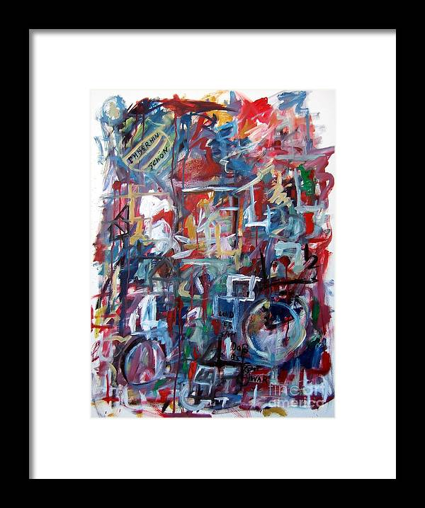 Abstract Framed Print featuring the painting Immerhin Schoen by Michael Henderson