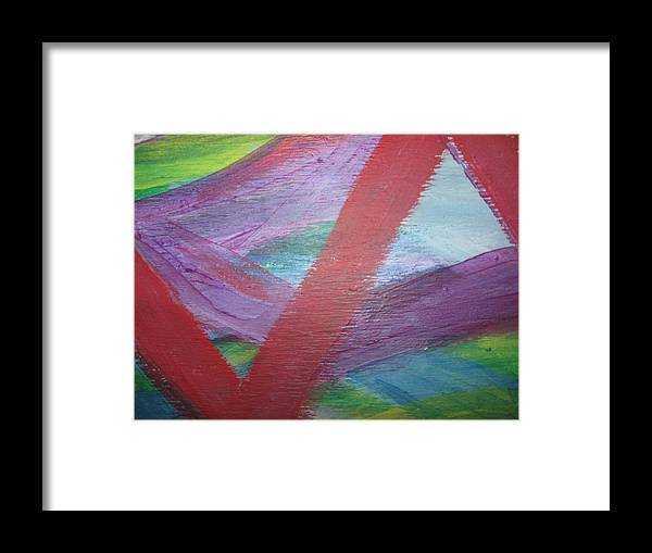 Fear Framed Print featuring the painting Imminent Immobility by Paula Andrea Pyle