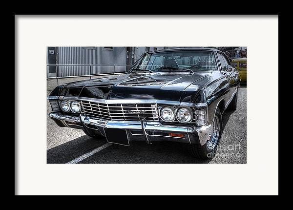 Supernatural Framed Print featuring the photograph Impala - Supernatural by Vicki Spindler