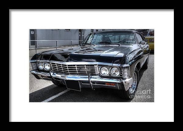 Supernatural Framed Print featuring the photograph Impala - Supernatural by Vicki Spindler