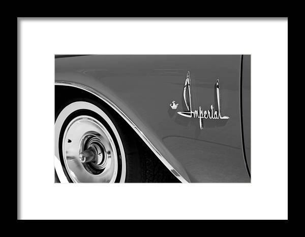 Car Framed Print featuring the photograph Imperial by Audrey Venute