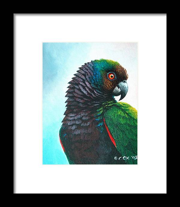 Chris Cox Framed Print featuring the painting Imperial Parrot by Christopher Cox