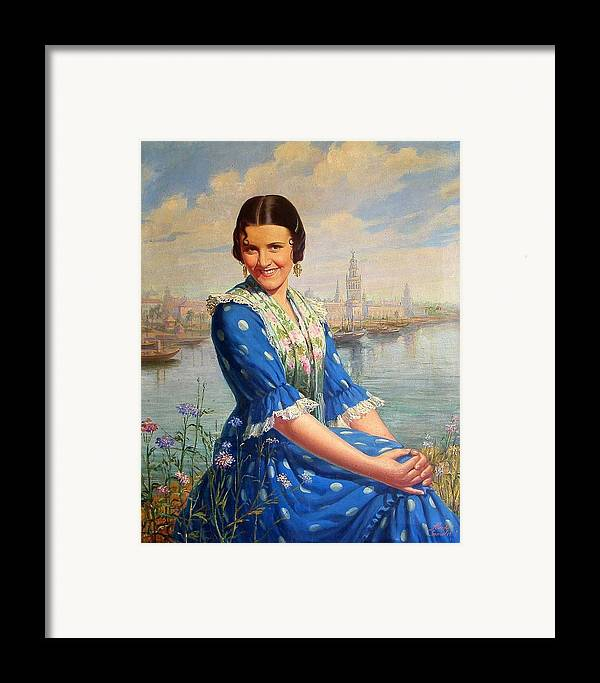 Singer Framed Print featuring the painting Imperio Argentina by Alfredo Gonzalez