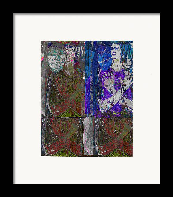 Dark Framed Print featuring the painting Impractical Resolution by Noredin Morgan