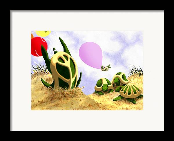 Dkzn Framed Print featuring the digital art Impressing The Girls by Tom Dickson