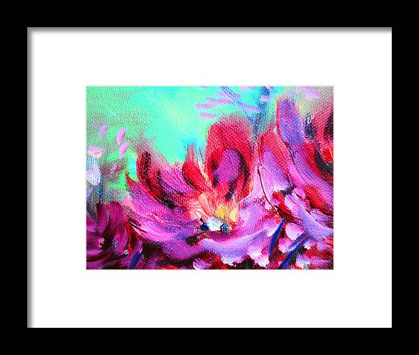 Still Life Flowers Framed Print featuring the painting Impressionism Flowers by Janice Robertson