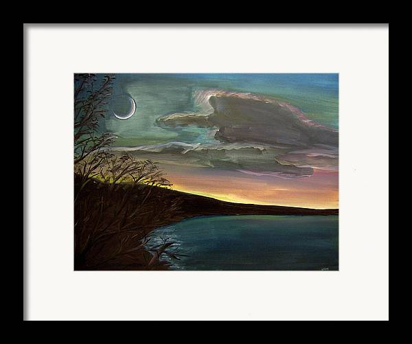 Sunset Framed Print featuring the painting Impressionistic Twilight by Clemens Greis