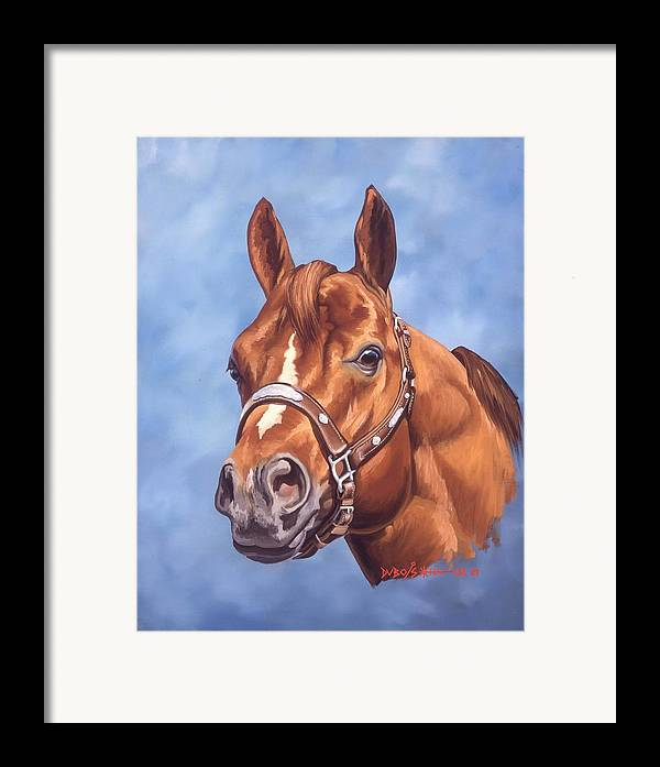 Quarter Horse Framed Print featuring the painting Impressive by Howard Dubois