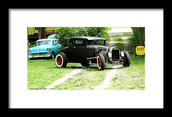 Black Impressive Mood Car Auto Automobile Classic Vintage Collect Collection Life Framed Print featuring the photograph Impressive. by Stevie Ellis