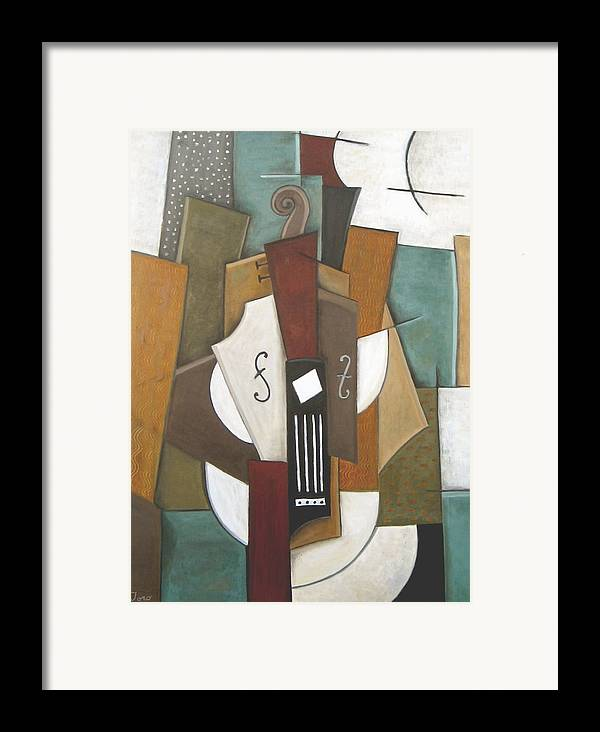 Cubism Framed Print featuring the painting Impromptu by Trish Toro