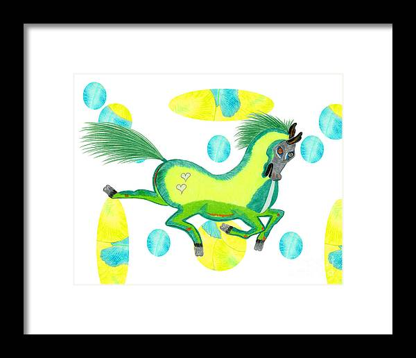 Horse Framed Print featuring the painting Imu by Tess M J Iroldi