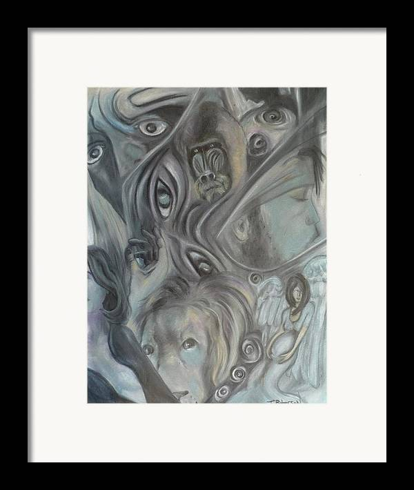 Dream Framed Print featuring the painting In A Broken Dream by Todd Peterson