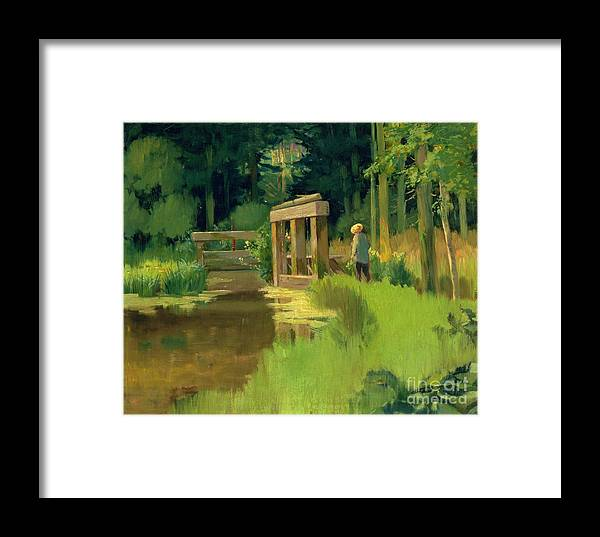 In A Park Framed Print featuring the painting In A Park by Edouard Manet