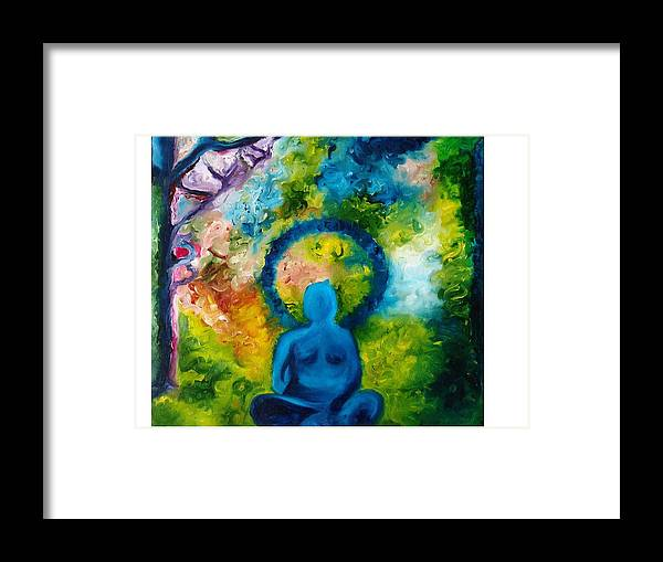 Budddha Framed Print featuring the painting In Abode Of Soul by Varsha Ahirwal