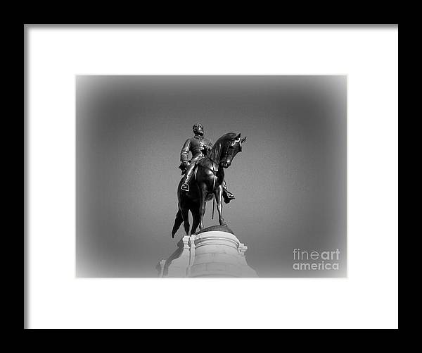 Monuments Framed Print featuring the photograph In All His Glory RE Lee by Nancy Dole McGuigan