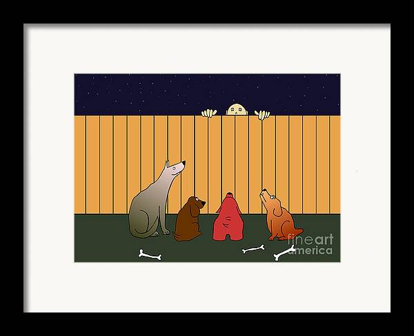 Dog Framed Print featuring the digital art In Bad Time On The Bad Place by Michal Boubin