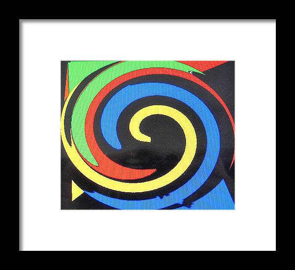 Red Framed Print featuring the digital art In Balance by Ian MacDonald