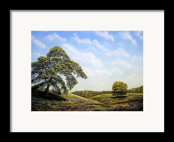 Landscape Framed Print featuring the painting In Bloom by Frank Wilson