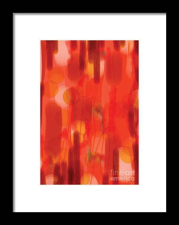 Digital Framed Print featuring the digital art In Celebration by Heather Hennick
