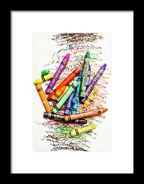 In Colours Of Broken Crayons Framed Print by Jorgo Photography ...