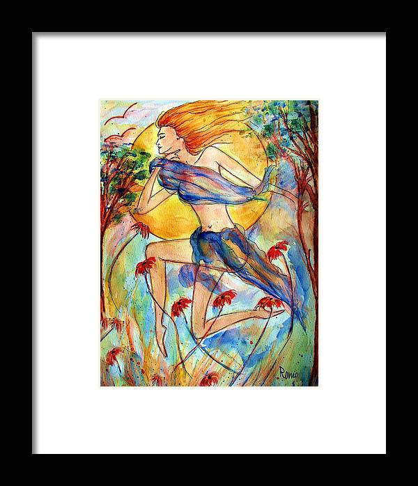 Female Figure Framed Print featuring the painting In Dreams by Robin Monroe