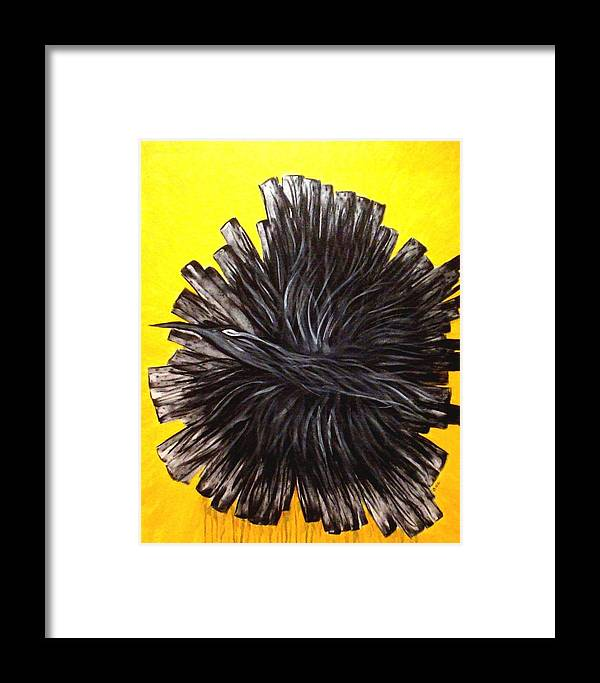 Abstract Framed Print featuring the painting In-flight by Ofelia Uz