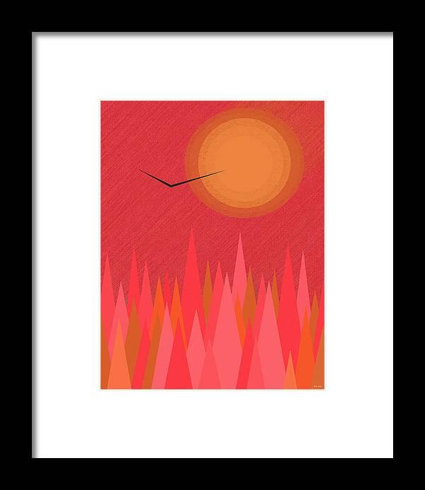 In Flight Framed Print featuring the digital art In Flight by Val Arie