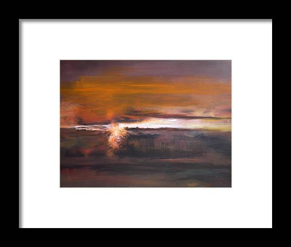 Abstract Framed Print featuring the painting In Grey 1 by DEVARAJ DanielFranco