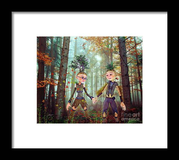 3d Framed Print featuring the digital art In Harmony With Nature by Jutta Maria Pusl