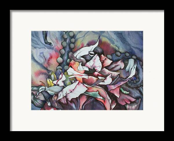Sea Framed Print featuring the painting In Hiding by Liduine Bekman