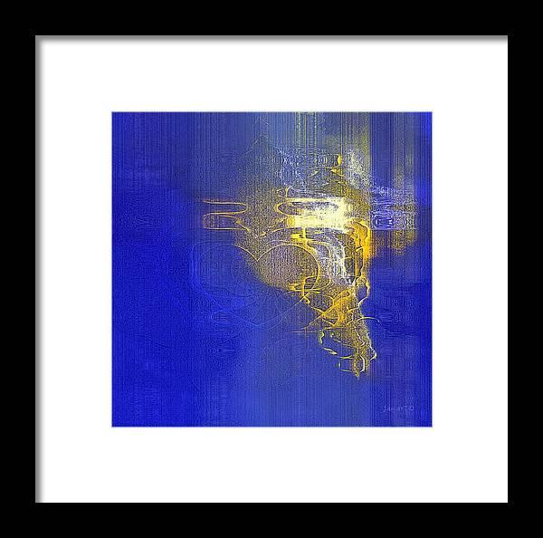 Fania Simon Framed Print featuring the digital art In Him - Loving Is Made Easy by Fania Simon