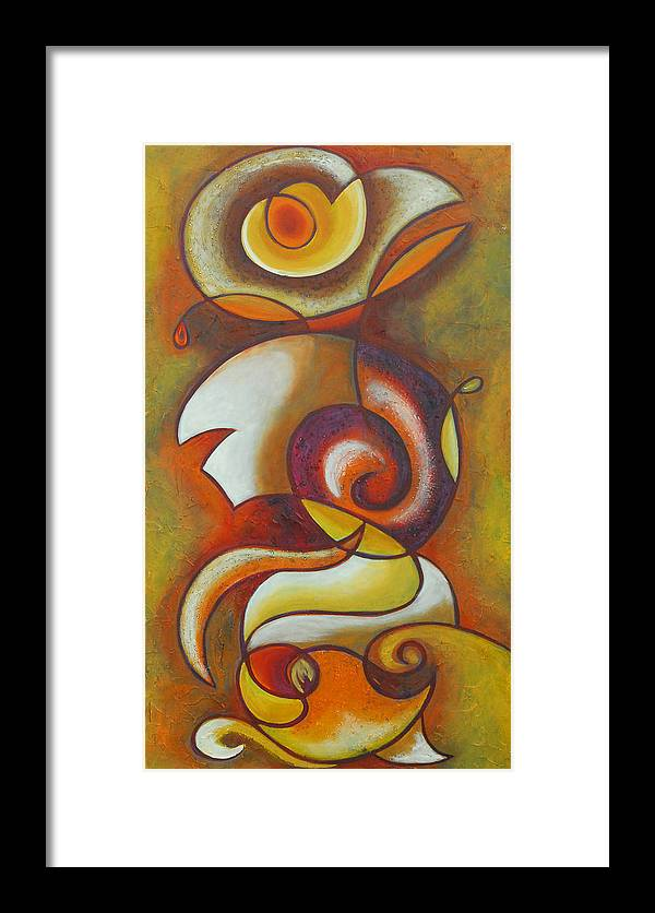 Abstract Expressionism Framed Print featuring the painting In Love by Marta Giraldo