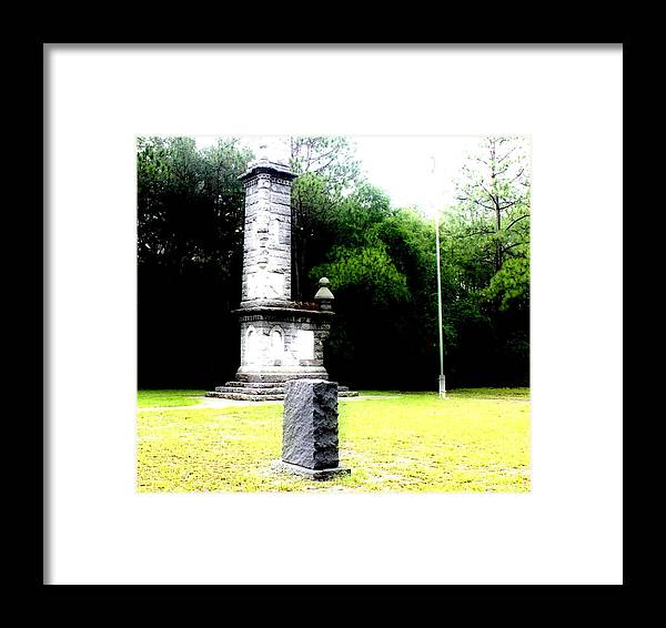 Shannon Framed Print featuring the photograph In Memory Of Olustee Battle by Shannon Sears
