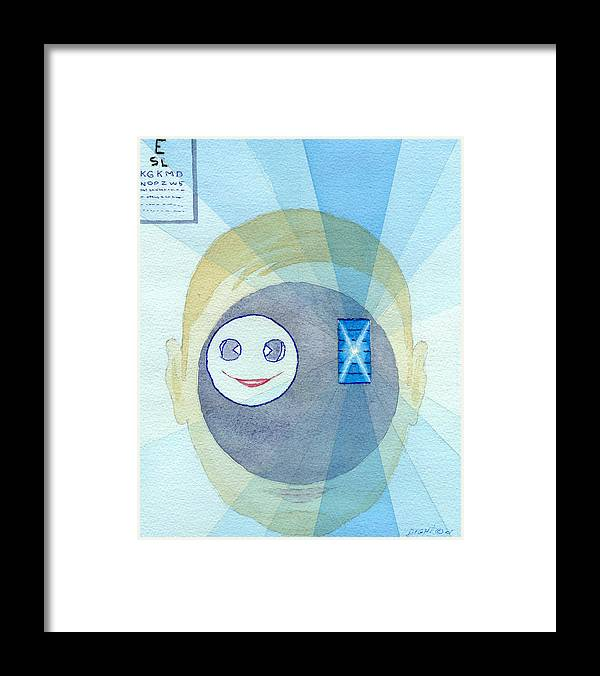 Smiley Face Framed Print featuring the painting In My Face by Buster Dight