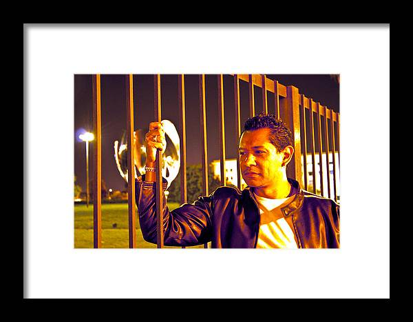 Framed Print featuring the photograph In Or Out by Francisco Colon