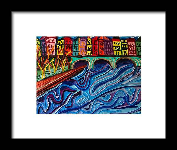 Framed Print featuring the painting In Seine by Ira Stark