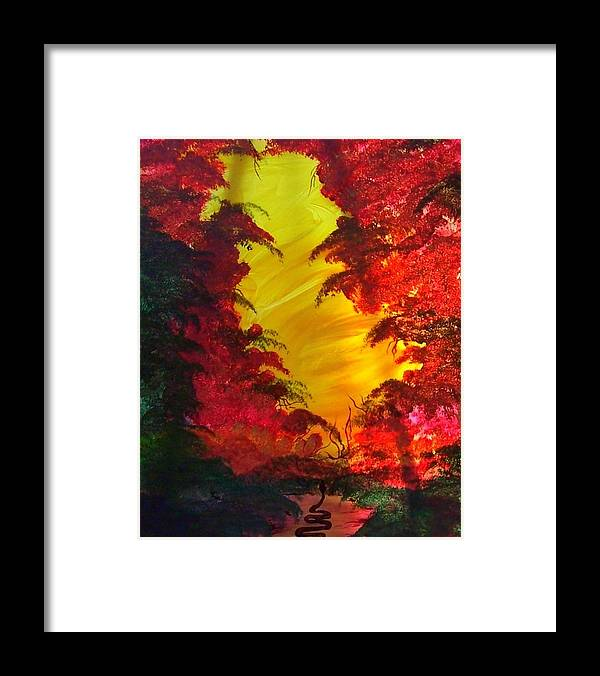 Biblical Framed Print featuring the print In The Beginning by Beverly Baxter