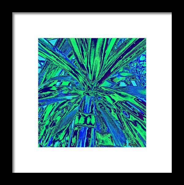 Digital Framed Print featuring the digital art In The Beginning by Leslie Revels