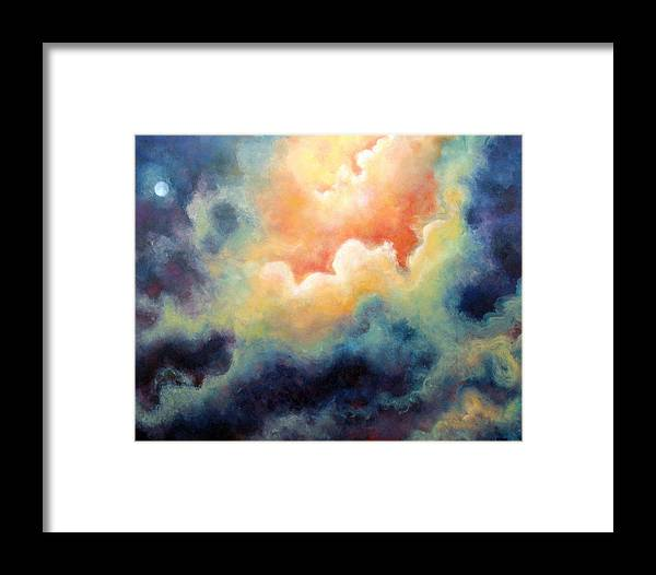 Celestial Framed Print featuring the painting In The Beginning by Marina Petro