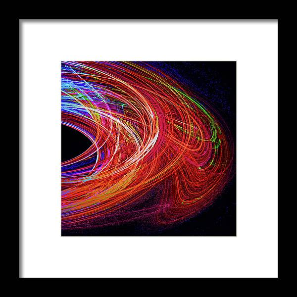 Digital Framed Print featuring the digital art In The Beginning-right by Michael Durst