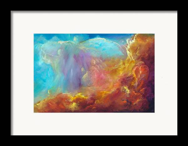 Celestial Framed Print featuring the painting In The Beginning by Sally Seago