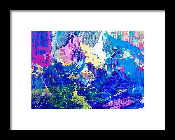 Abstract Framed Print featuring the photograph In The Beginning The Heavens And The Chaos by Bruce Combs - REACH BEYOND