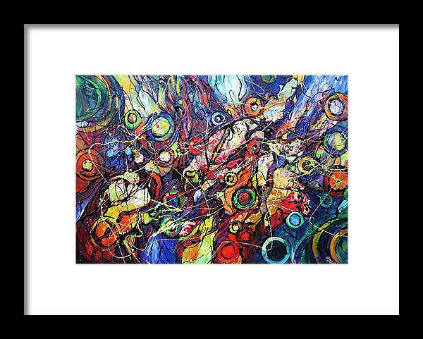 #  Original Framed Print featuring the painting In The Circle Of Time by Eugenia Mangra