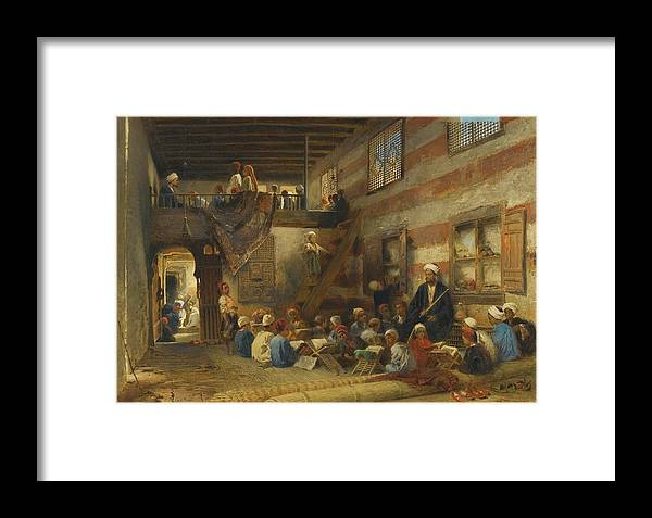 Konstantin Makovsky 1839 - 1915 Russian - In The Classroom Framed Print featuring the painting In The Classroom by Eastern Accent