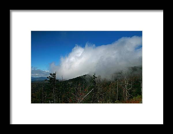 Smokey Mountains Framed Print featuring the photograph In The Clouds by James Jones
