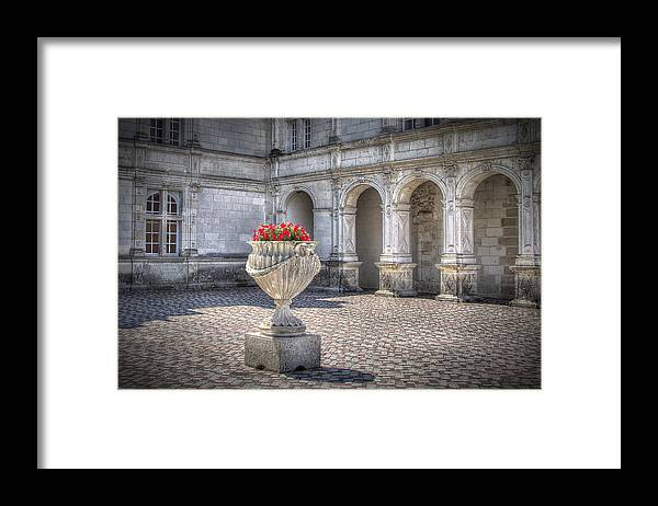 Courtyard Framed Print featuring the photograph In The Courtyard by Linda Kruzic