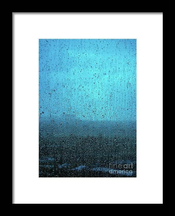 Neha Gupta Photography Framed Print featuring the photograph In The Dark Blue Rain by Neha Gupta